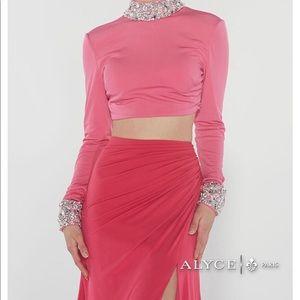 Alyce Paris 2 Piece Long Sleeve Pageant Prom Dress